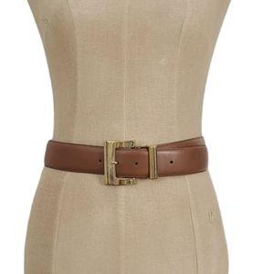 90s Vintage Worthington Cognac Brown Leather Belt